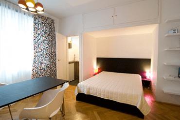 Schlafzimmer Hotelappartement