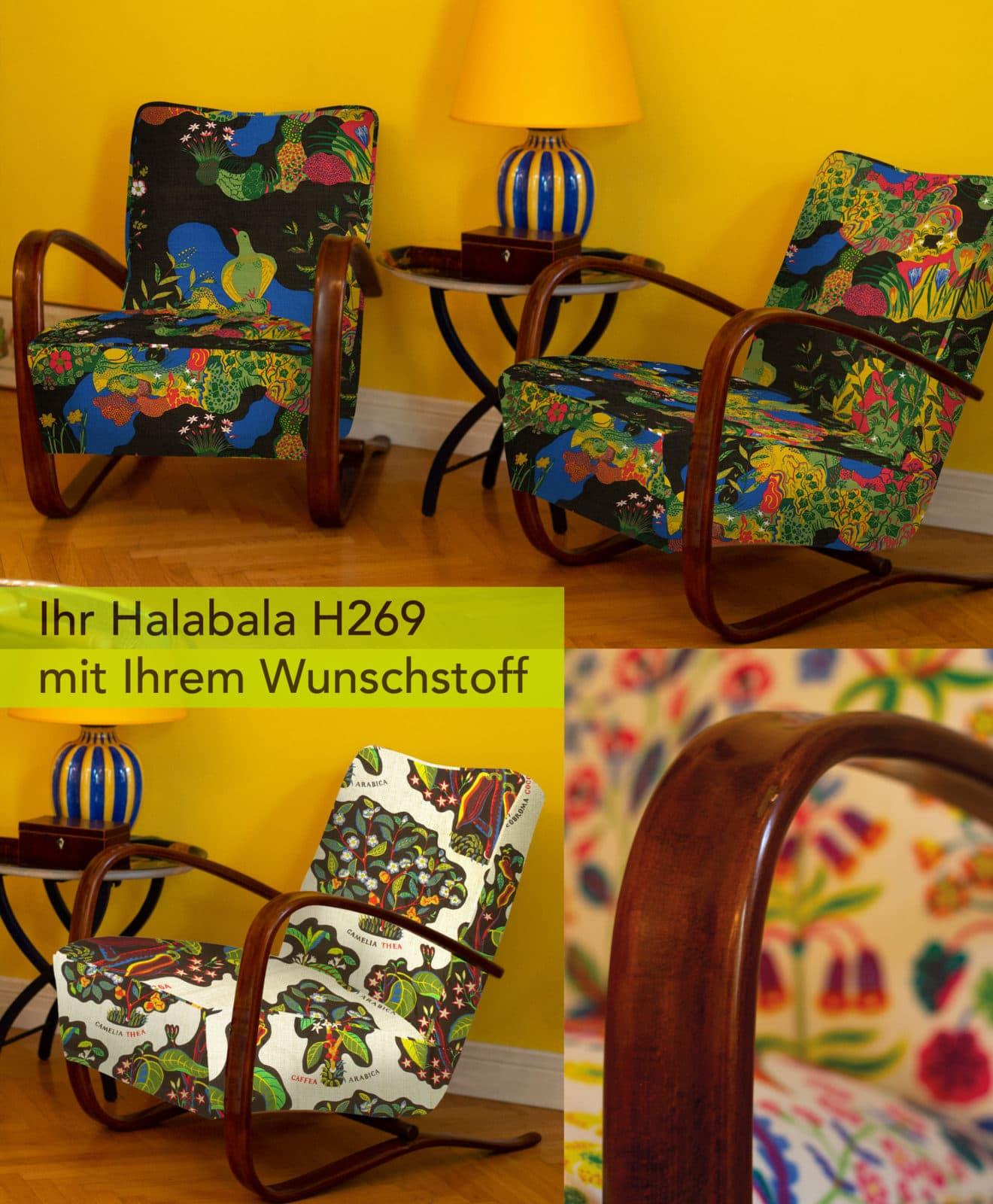 Kabinettstücke Newsletter Fauteuil Halabala mit Titel