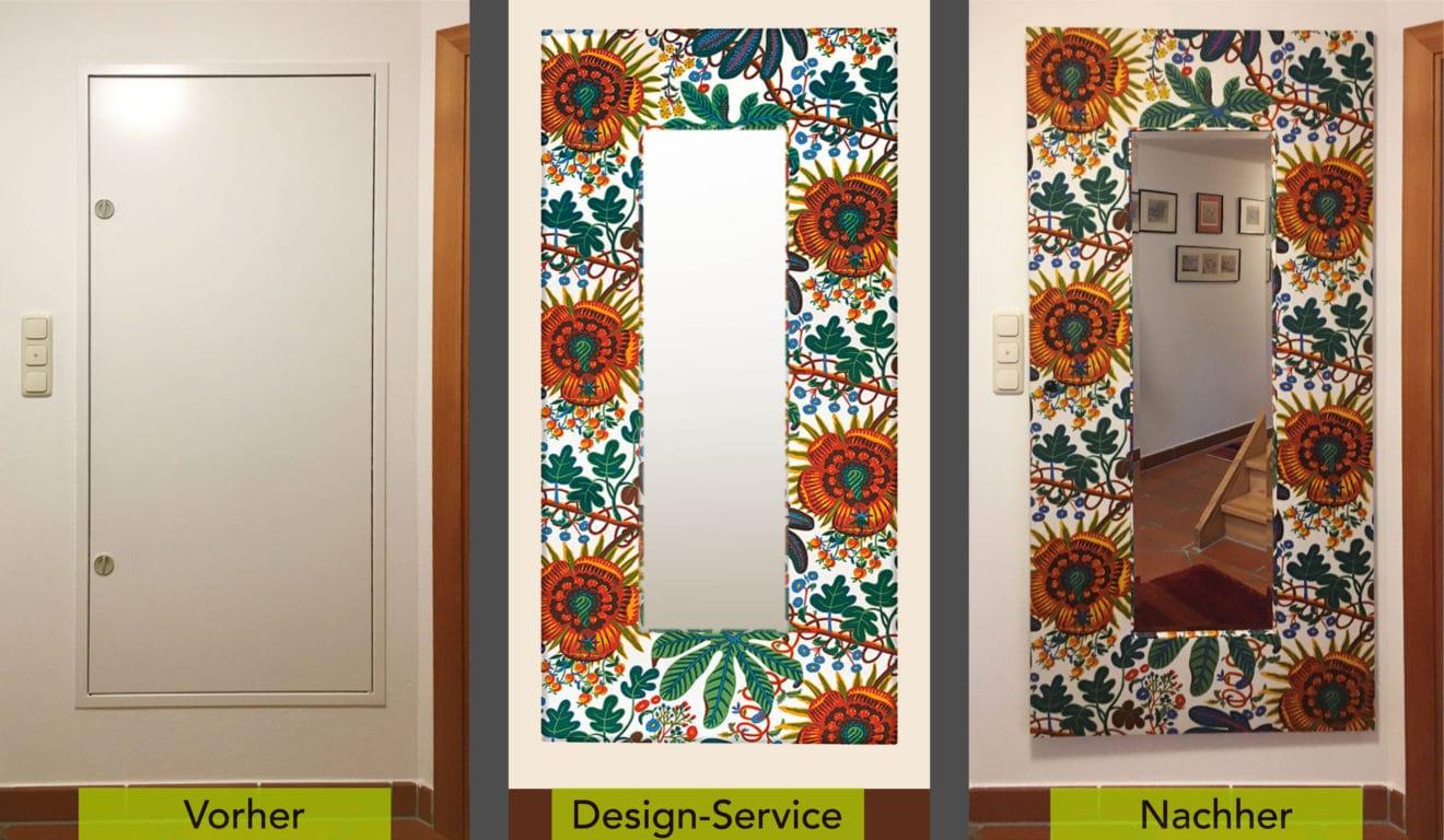 Kabinettstücke-Design-Service-Realisiert-Spiegel-mit-Aralia-Umwandlung-mit-Schrift 2